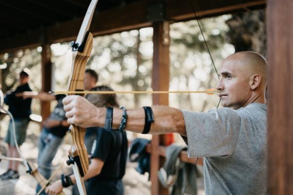 démonstration de tir à l'arc