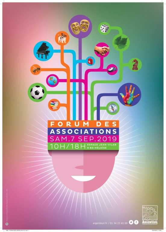 Affiche forum des associations argenteuil 2019